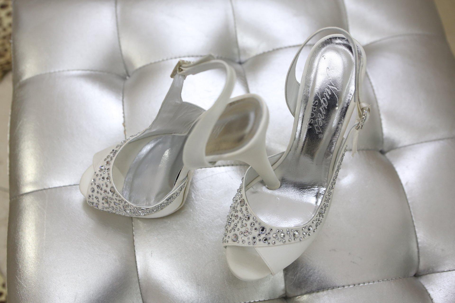 Sandali gioiello sposa